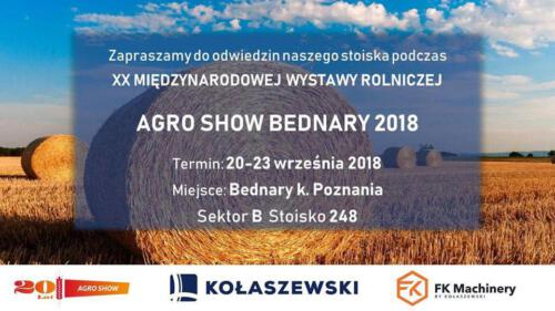 XX Targi AGRO SHOW Bednary - Kołaszewski Sp. z o.o.